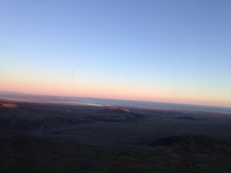 Clear skies over south Iceland, taken from a helicopter