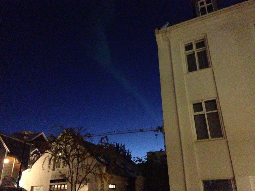 Northern lights in Reykjavík