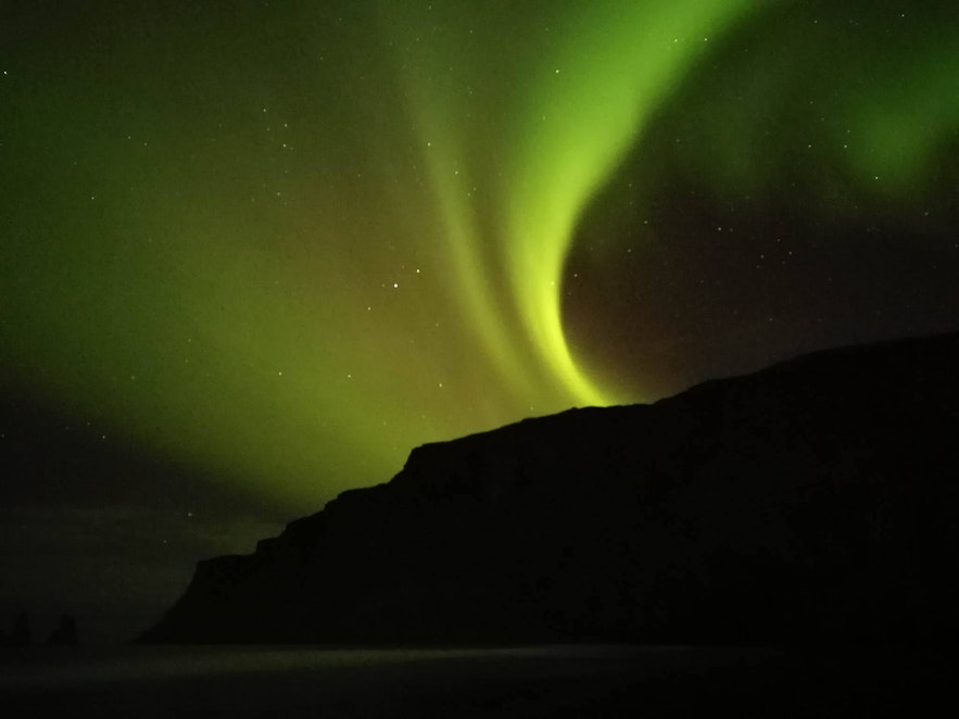 Phone picture of the auroras by Edwin Martinez