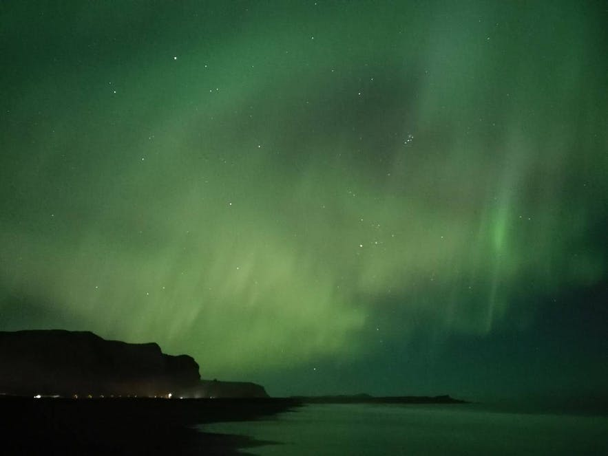 Auroras covering the sky in Iceland, picture from a phone!