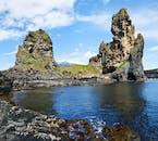 Djúpalónssandur is a beautiful black pearl beach and bay on the Snæfellsnes Peninsula in Iceland.