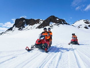 Golden Circle Jeep Tour with Glacier Snowmobiling