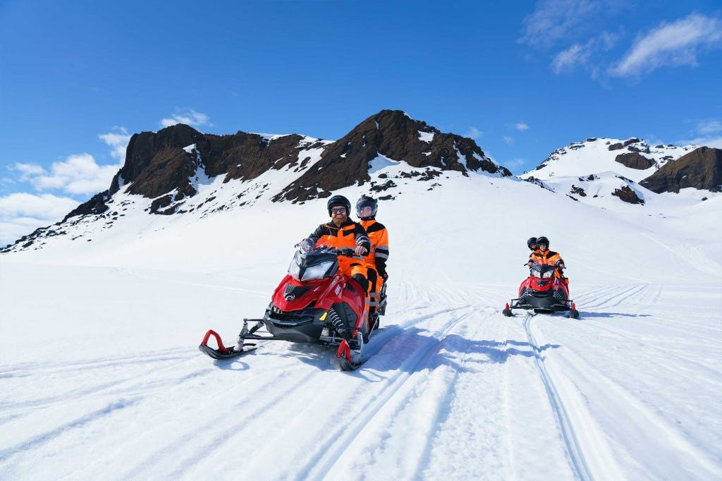 Small Group Golden Circle Super Jeep & Snowmobiling Adventure