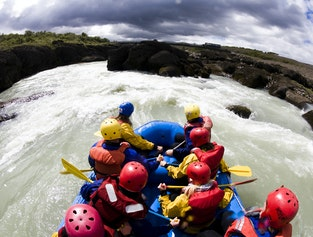 River Rafting In Gullfoss Canyon