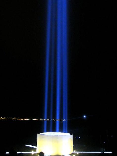 The Imagine Peace Tower In Vi 240 Ey Island John Lennon