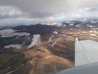 Combination Flying Tour | Lakagigar Craters, Grimsvotn & Glaciers