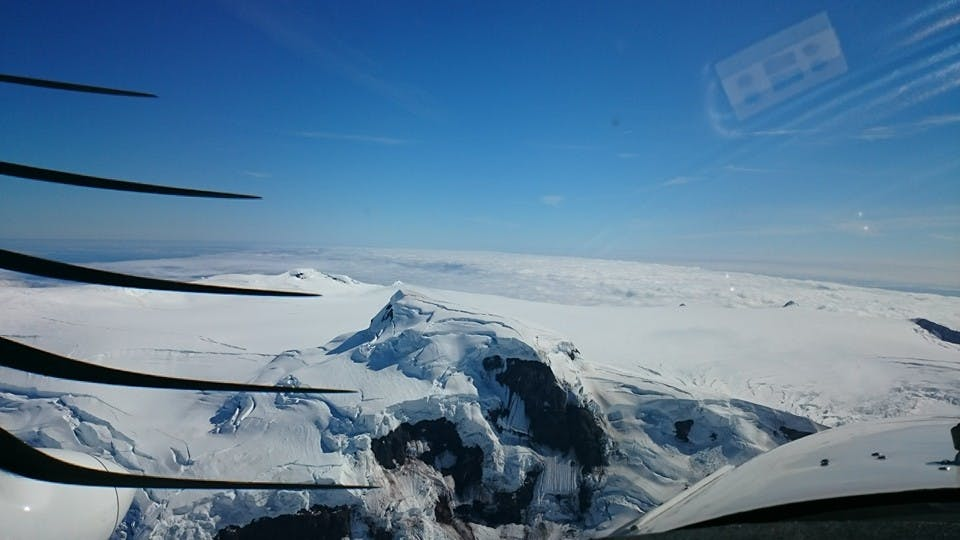 Combination Flying Tour | Lakagigar Craters, Grimsvotn, and Glaciers