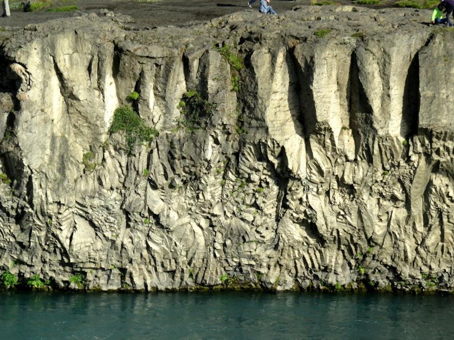 Beautiful basalt columns by Goðafoss
