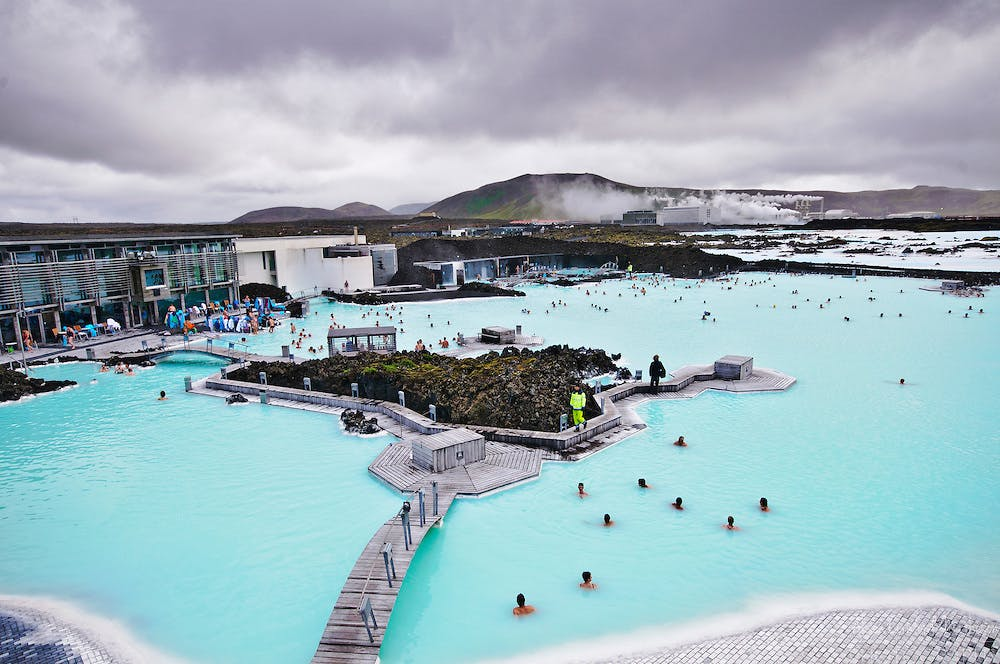 Golden Circle With Blue Lagoon