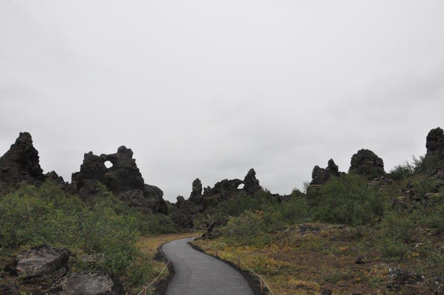 Dimmuborgir by Lake Mývatn in north Iceland