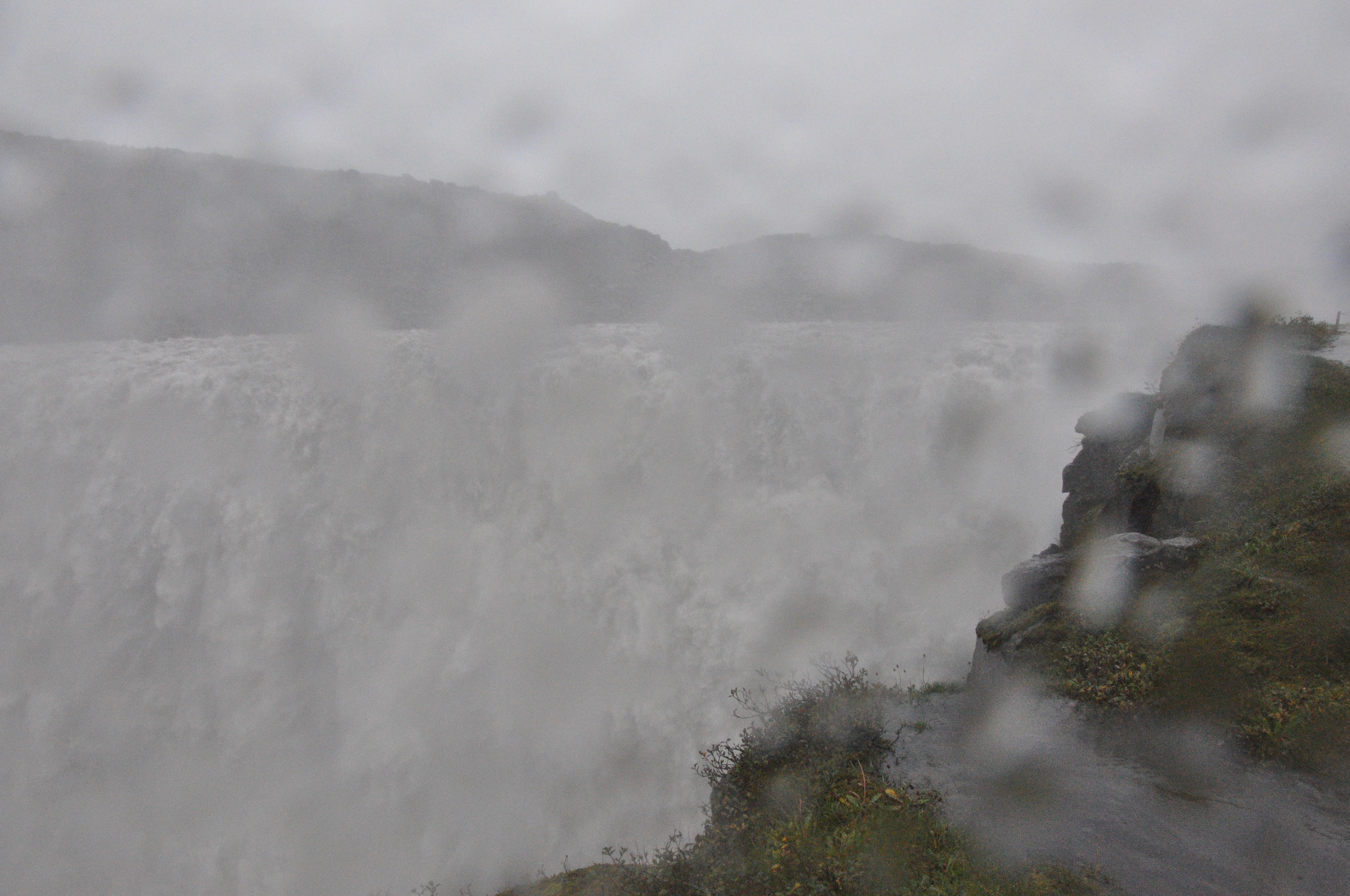 Rainy Dettifoss in north Iceland