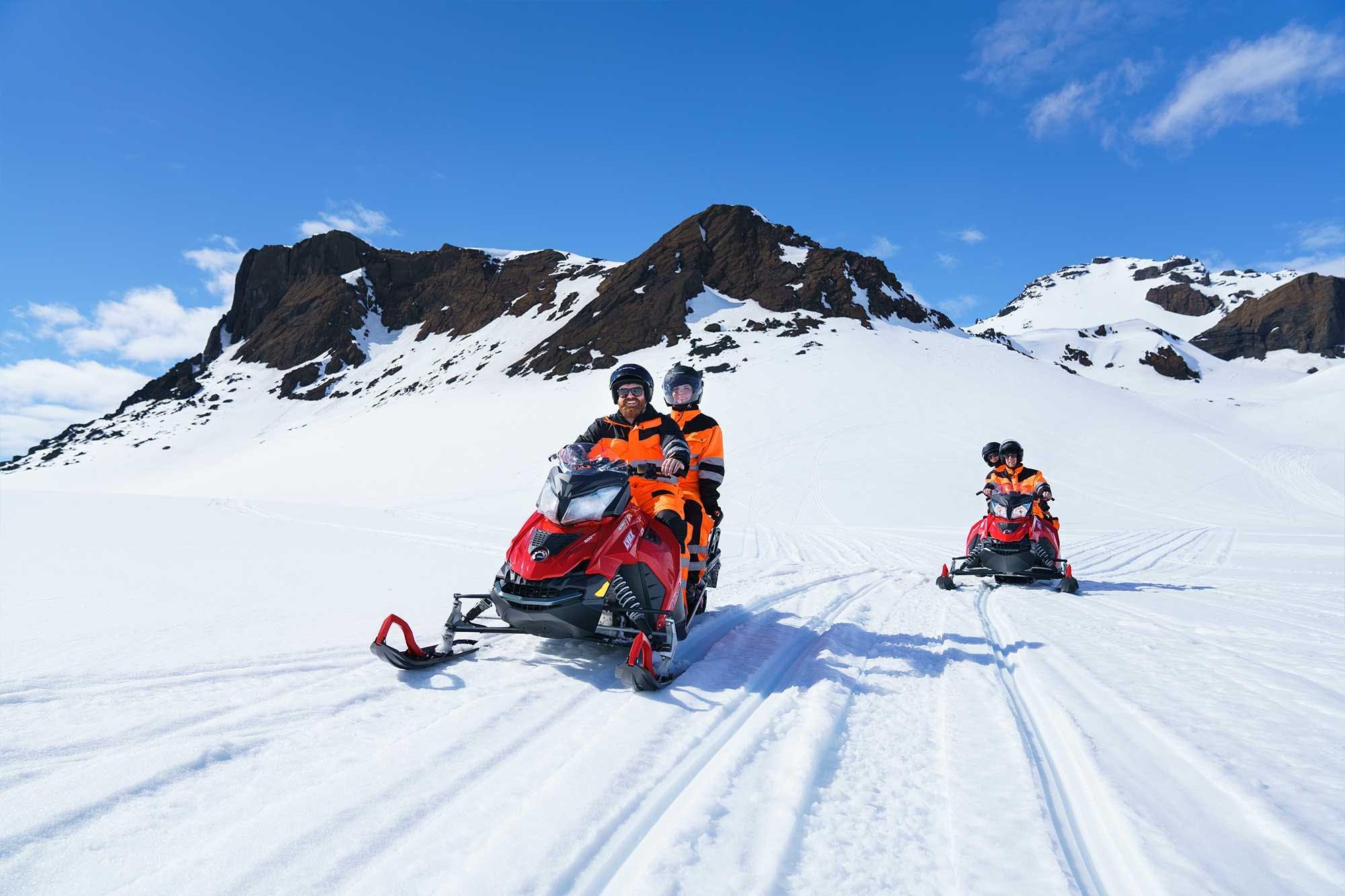 Schneemobil-Tour auf dem Langjökull, ab Reykjavík | Kleingruppe
