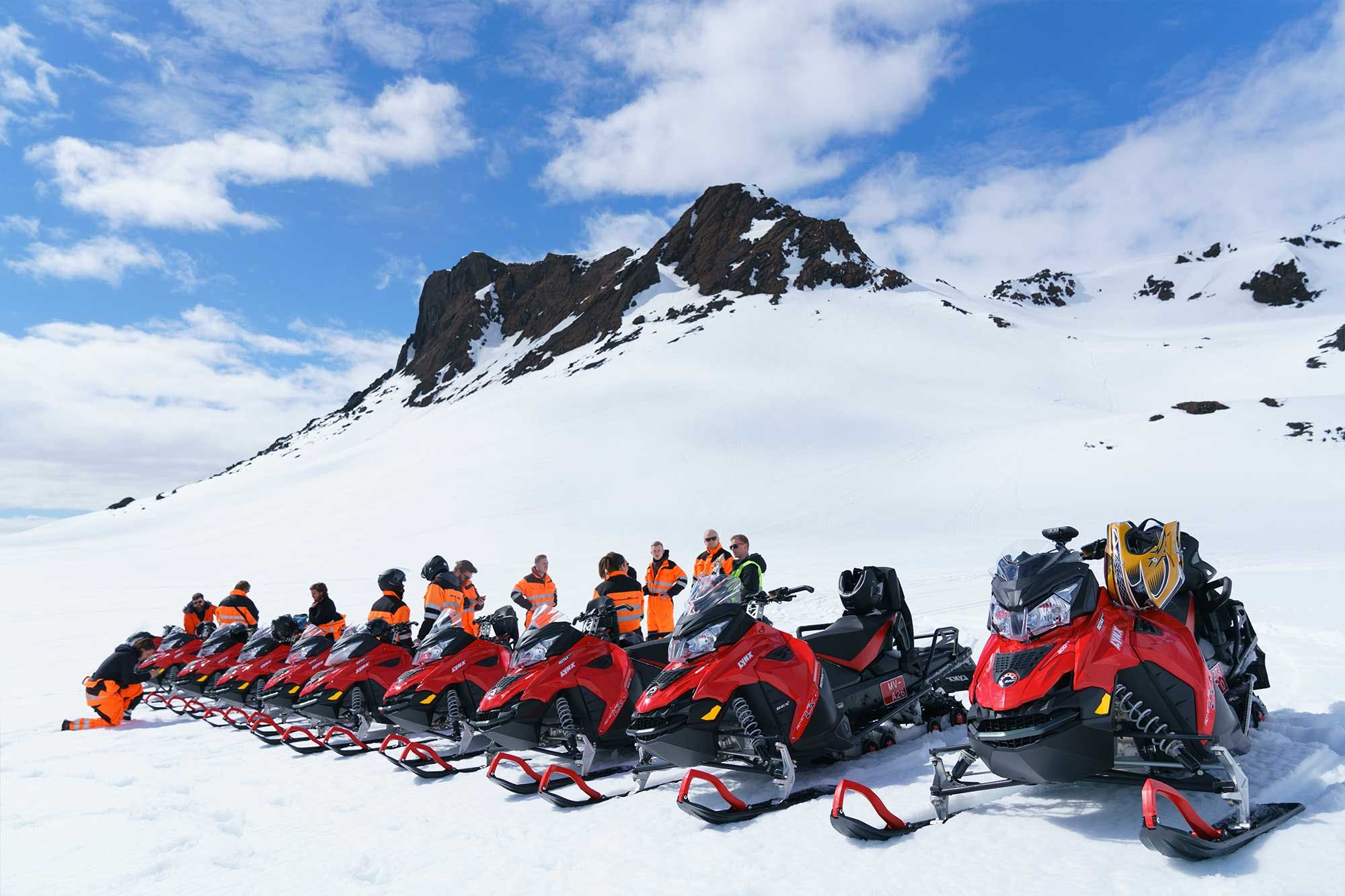 Snowmobile Tour From Gullfoss Waterfall In A Small Group