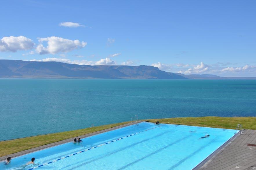 Hofsós infinity pool in Iceland