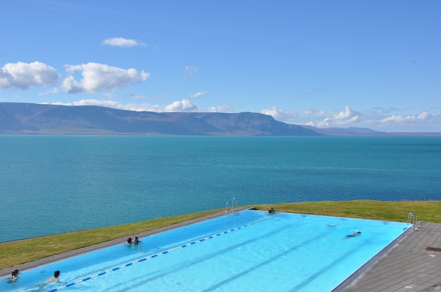 Hofsós infinity pool in Iceland