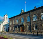 The Icelandic government building, the Althingi.