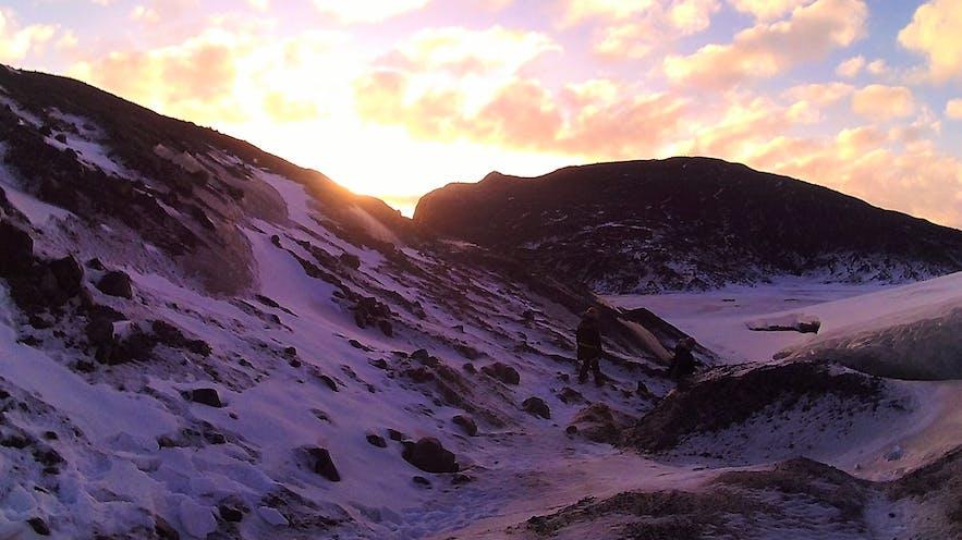 entree de l'ice cave en Islande