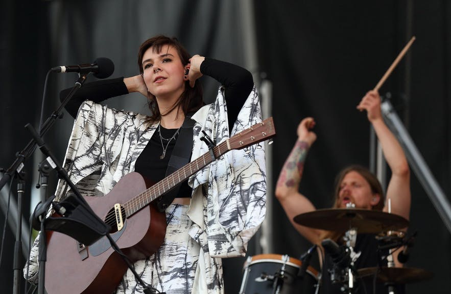 Nanna Bryndís from Icelandic band Of Monsters and Men
