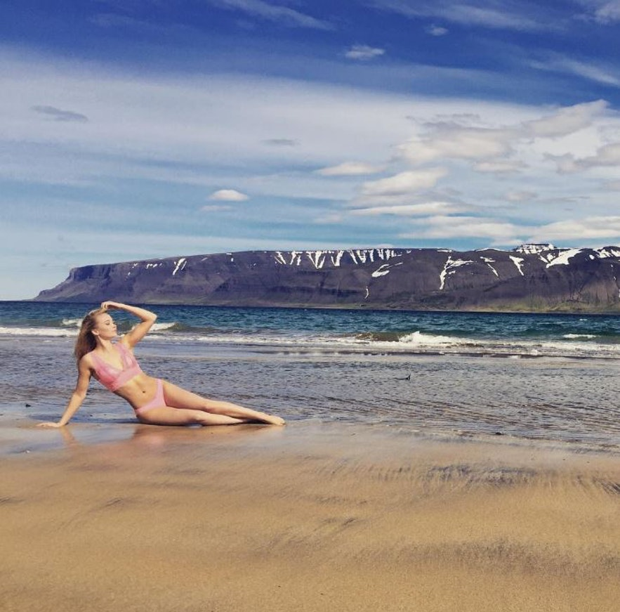 Miss Iceland on a warm day in Iceland