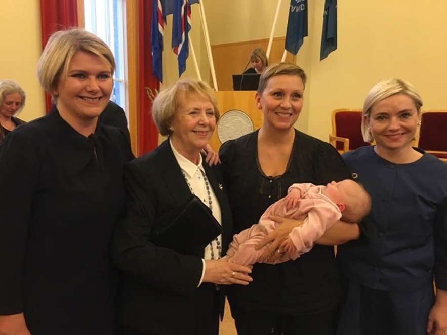 Icelandic MP that breastfed during parliament