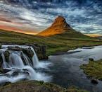 Mt. Kirkjufell and Kirkjufellsfoss Waterfall on the Snæfellsnes Peninsula make for a great photo combo.