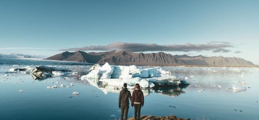 浪漫的冰岛杰古沙龙冰河湖
