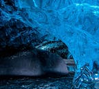 In the winters of South Iceland, you can find otherworldly blue ice caves.