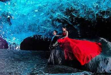 Grotte de Cristal   Ice cave depuis Jökulsárlón