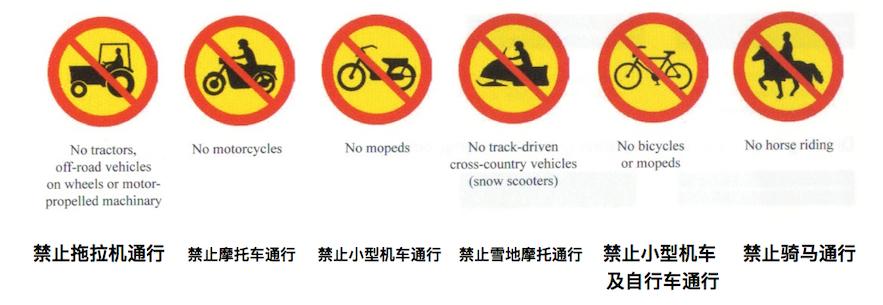 一些地区禁止拖拉机、摩托车等通行
