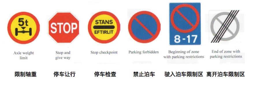 如遇到停止路标,必须在路口完全停下,观察好两边,确认安全后再行进