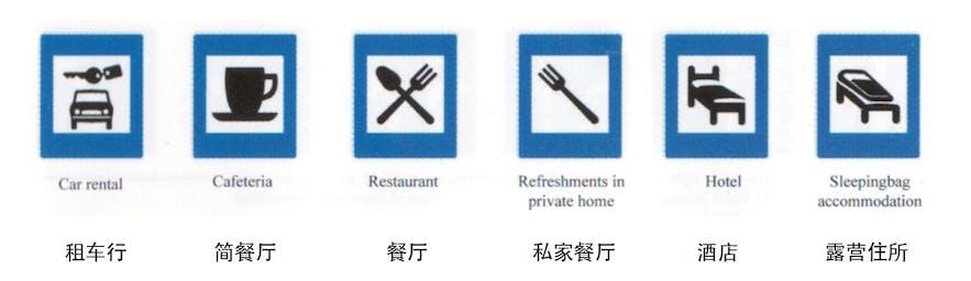 车行、餐厅、酒店等的标志