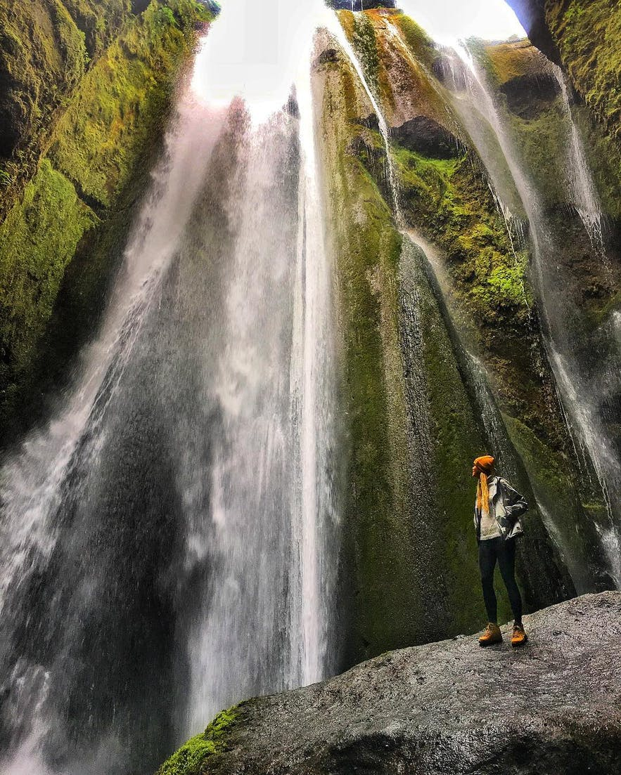 冰岛南岸的秘密瀑布