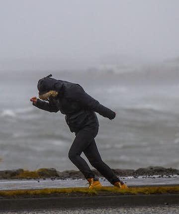 Rainy storm in Reykjavík