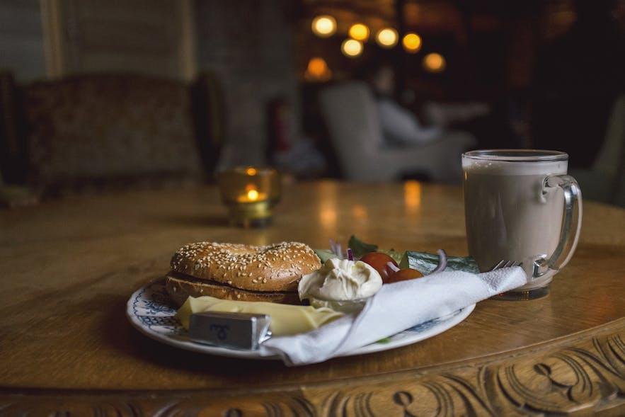 Cosy coffee in Stofan café in Reykjavík