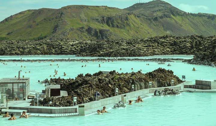 Visit the azure waters of the Blue Lagoon on the Reykjanes Peninsula.