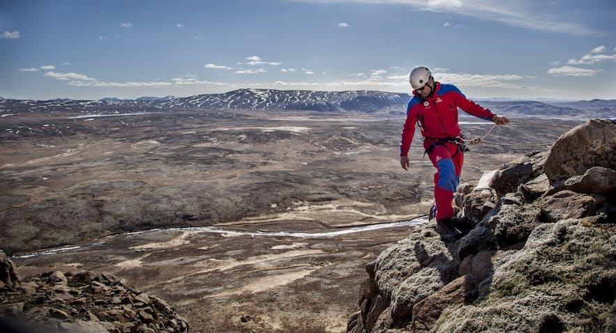 Działania ratowników na Islandii