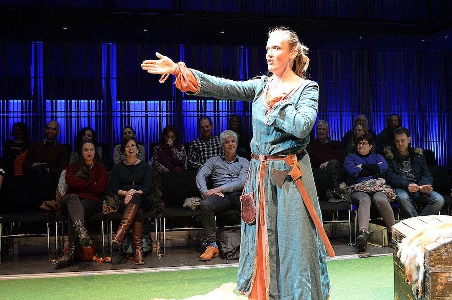 the Icelandic Sagas in 75 Minutes at Harpa Concert Hall in Reykjavík