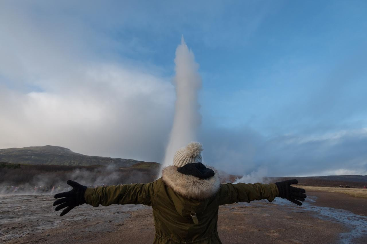 At Strokkur on the Golden Circle / Photo by: Frederic Demeus