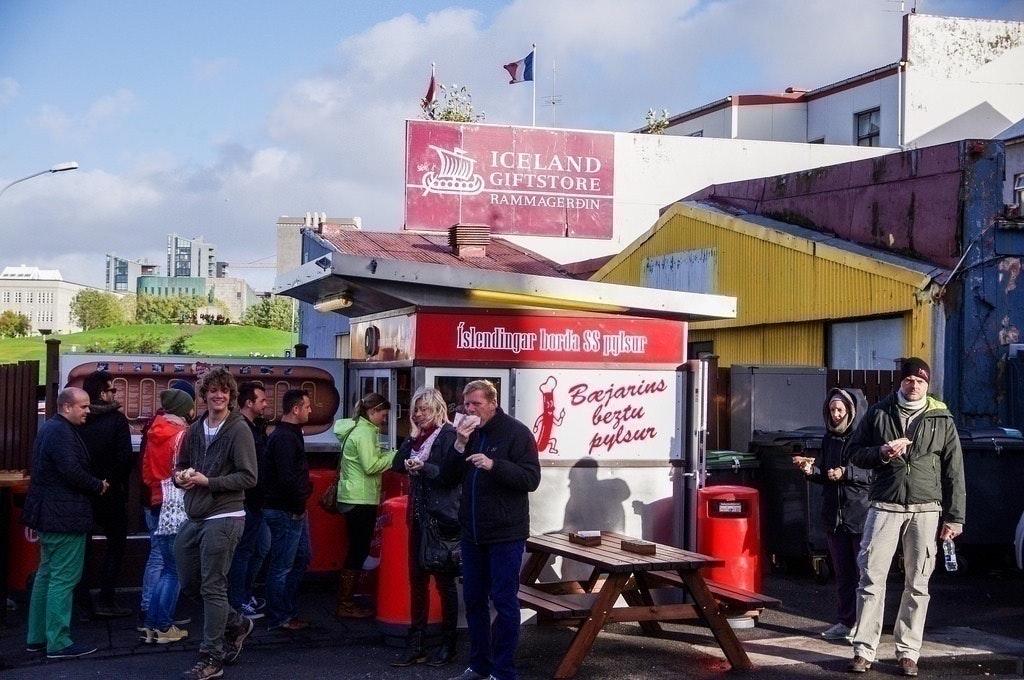 Bæjarins Beztu Pylsur hot dog stand in Reykjavik, Iceland