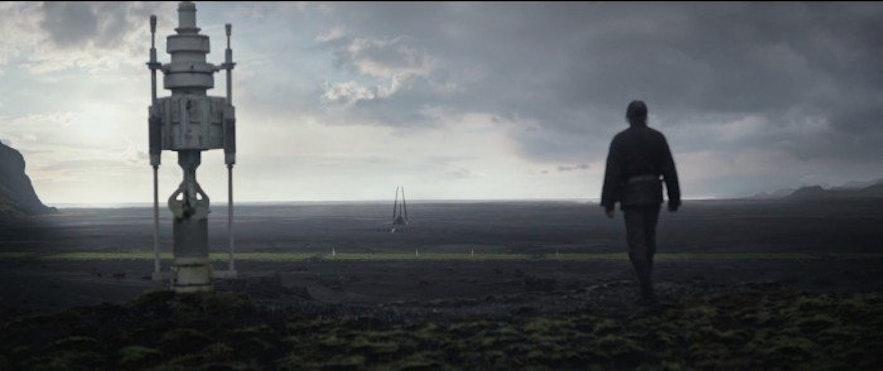 Rogue One: A Star Wars Story på Island. Bilde fra Slashfilm.