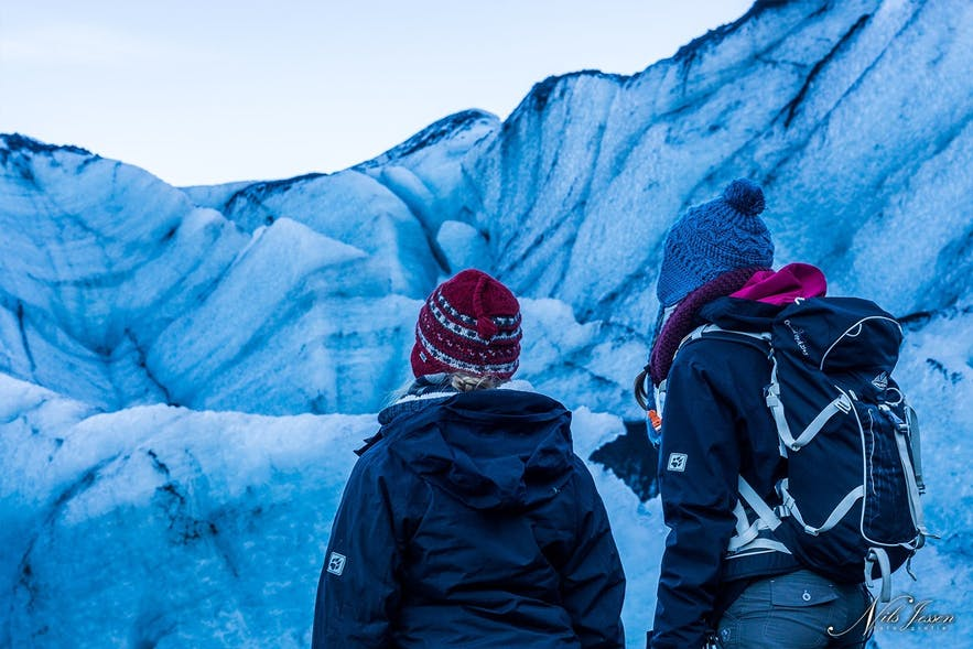 sisters on the glacier