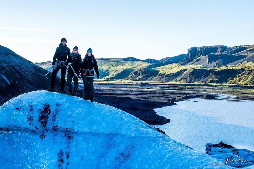 the-trio on the glacier