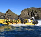 Expect to see the many islands and rock outcrops of the Westman Islands.