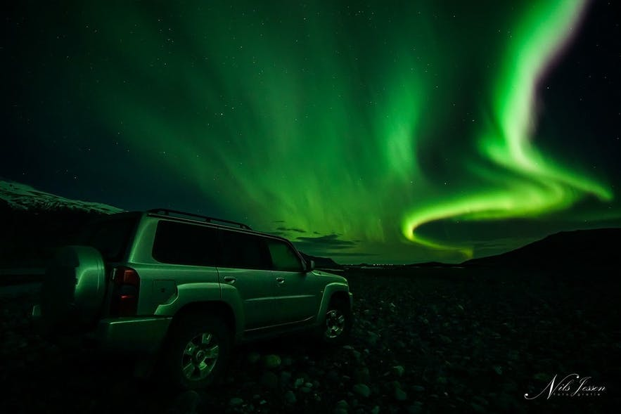 Northern Lights in the Icelandic Highlands