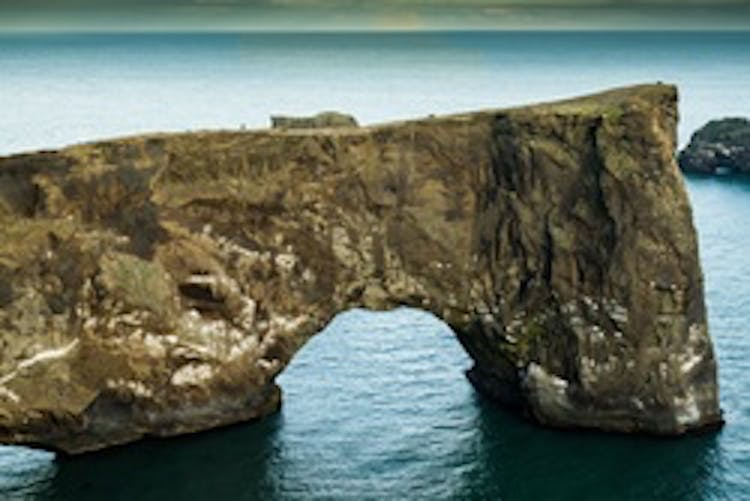This distinctive rock arch sits at the small peninsula of Dyrhólaey.