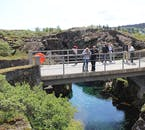 Visiting Þingvellir on a Golden Circle tour allows visitors to literally walk between two continents.