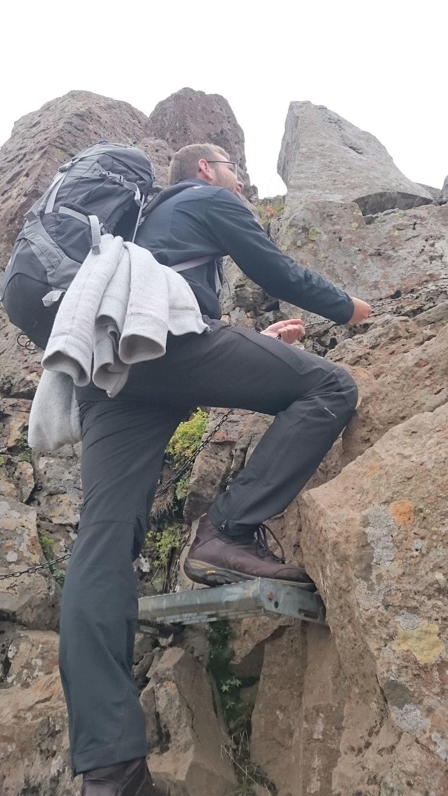 climbing passages: Mount Esja