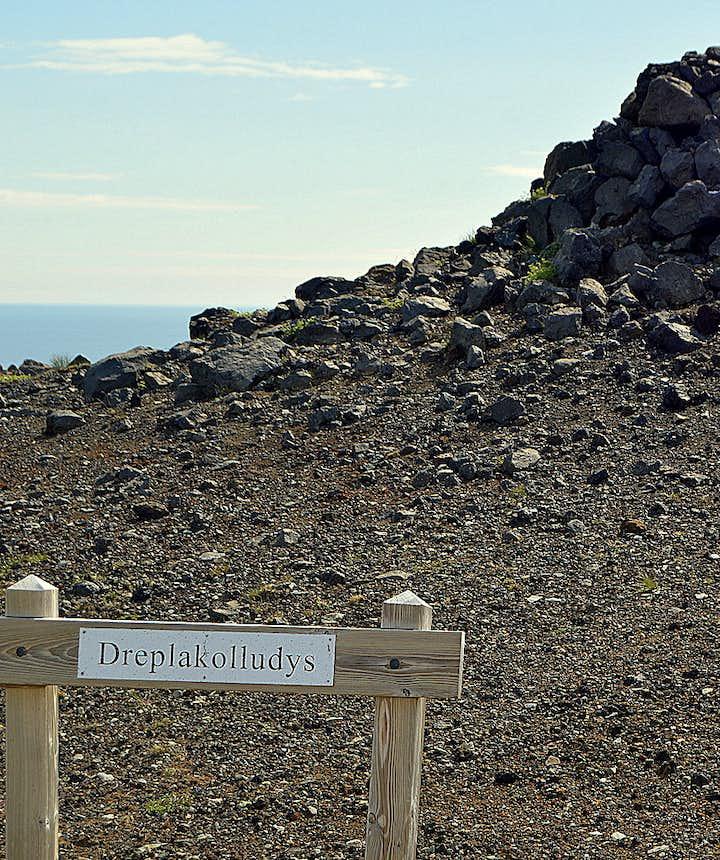 Drepakolludys burial mound Snæfellsnes