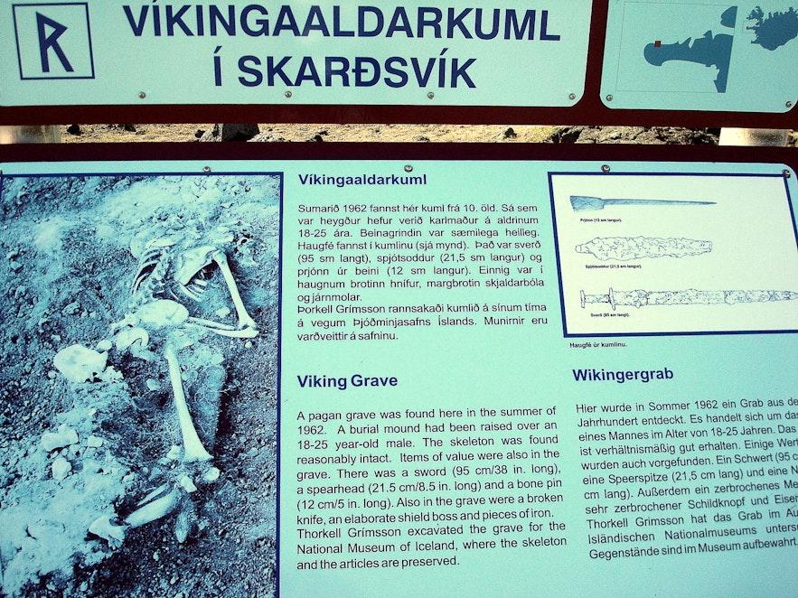 A pagan grave at Skarðsvík