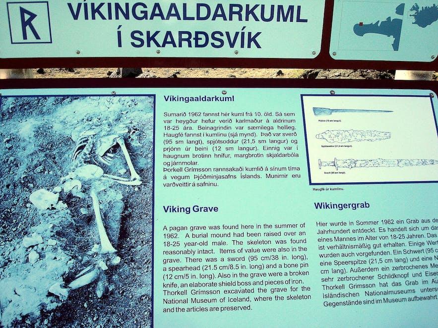 Skarðsvík - víkingakuml pagan grave